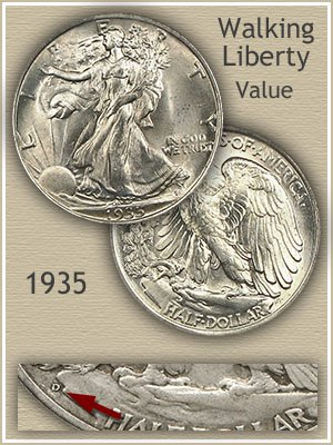Uncirculated 1935 Half Dollar Value