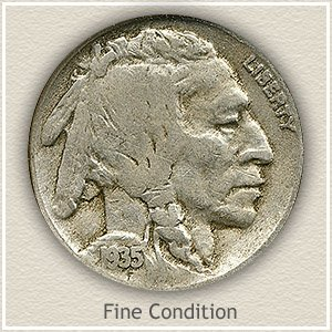 1935 Nickel Fine Condition