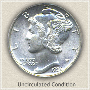 1936 Dime Uncirculated Condition