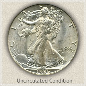 1936 Half Dollar Uncirculated Condition