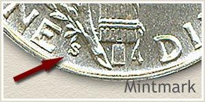 1937 Dime S Mintmark Location