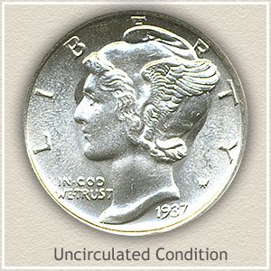 1937 Dime Uncirculated Condition