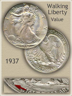 Uncirculated 1937 Half Dollar Value