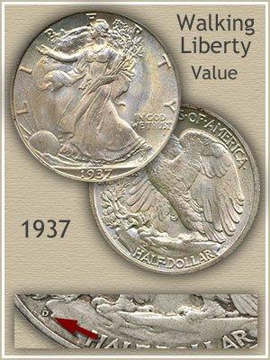 Uncirculated 1937 Half Dollar Value
