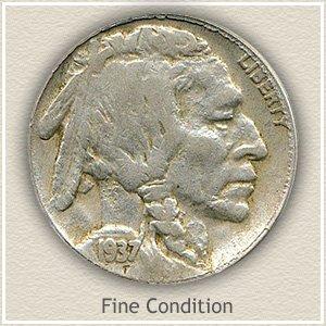 1937 Nickel Fine Condition
