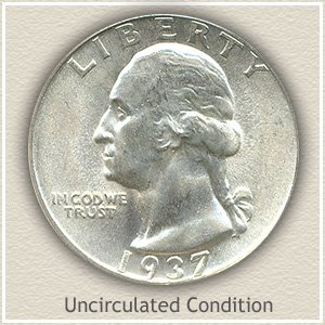 1937 Quarter Uncirculated Condition