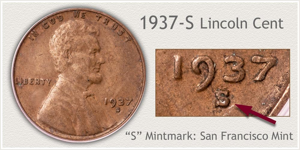 1937-S Lincoln Penny