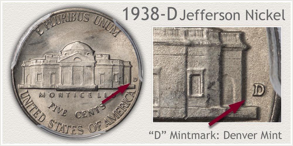 1938-D Jefferson Nickel