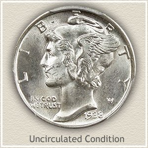 1938 Dime Uncirculated Condition
