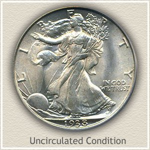1938 Half Dollar Uncirculated Condition