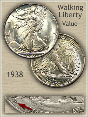 Uncirculated 1938 Half Dollar Value