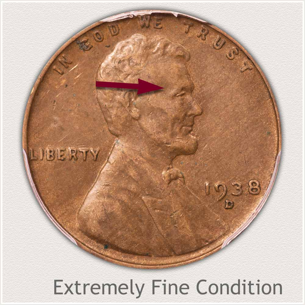 Extremely Fine Grade Lincoln Penny