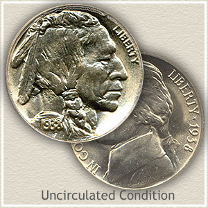 1938 Nickel Uncirculated Condition