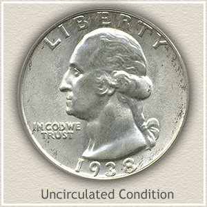 1938 Quarter Uncirculated Condition