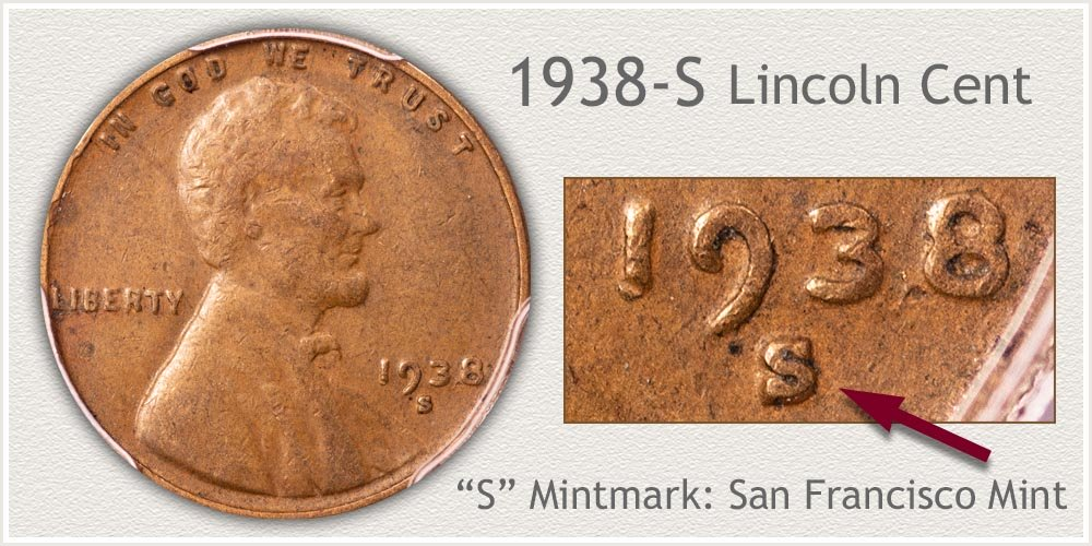 1938-S Lincoln Penny