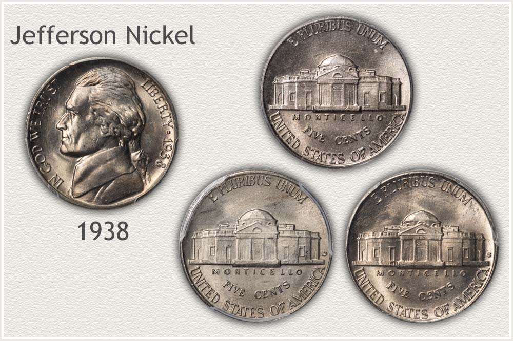 Collection of 1938 Jefferson Nickels
