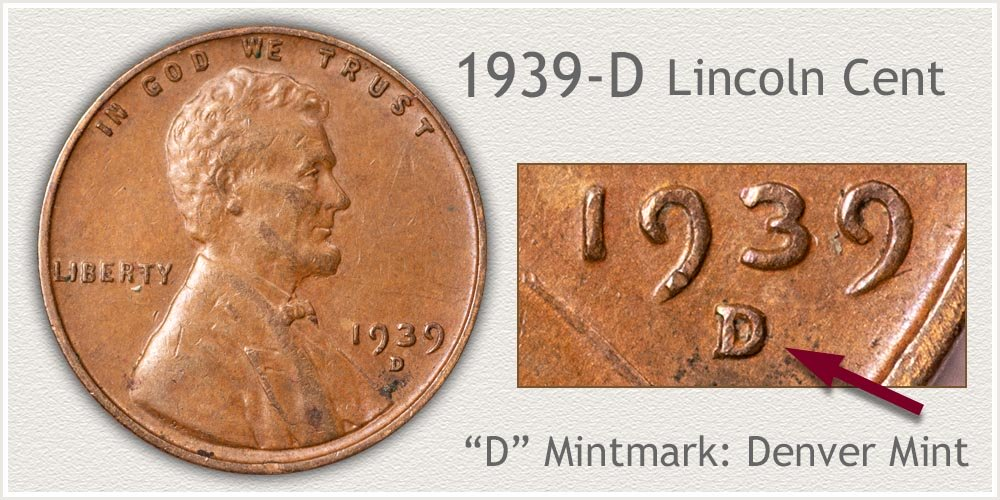 1939-D Lincoln Penny