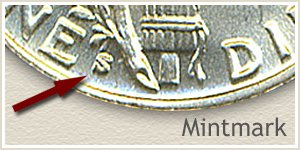 1939 Dime S Mintmark Location