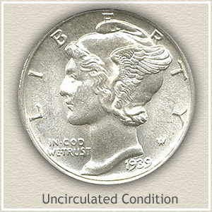1939 Dime Uncirculated Condition