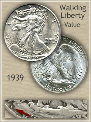 Uncirculated 1939 Half Dollar Value