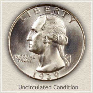 1939 Quarter Uncirculated Condition