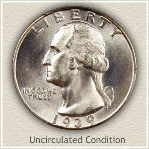 1939 Quarter Uncirculated Condition