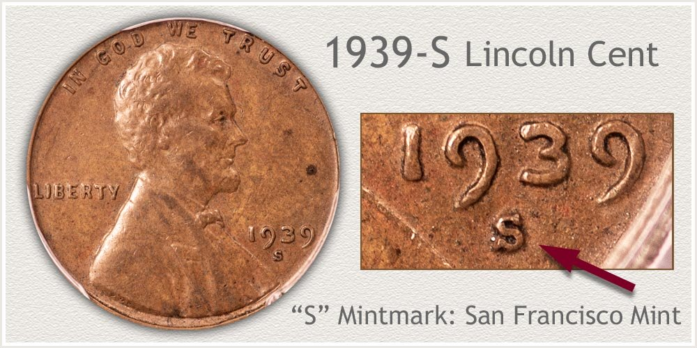 1939-S Lincoln Penny
