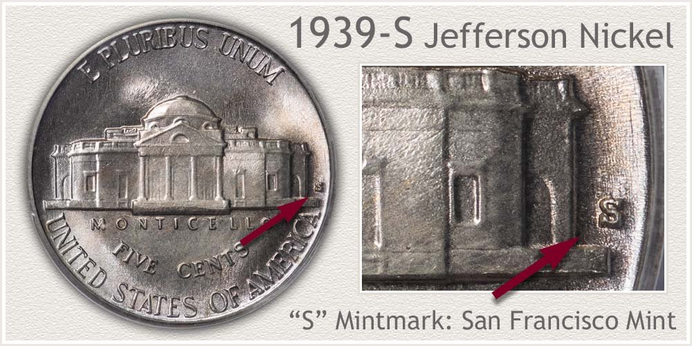 1939-S Jefferson Nickel