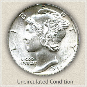 1940 Dime Uncirculated Condition
