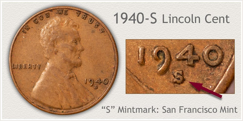 1940-S Lincoln Penny