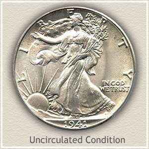 1941 Half Dollar Uncircualted Condition