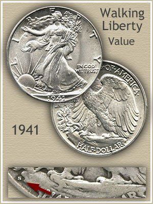Uncirculated 1941 Half Dollar Value