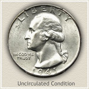1941 Quarter Uncirculated Condition