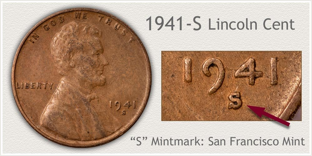 1941-S Lincoln Penny