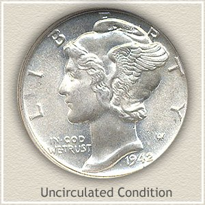 1942 Dime Uncirculated Condition