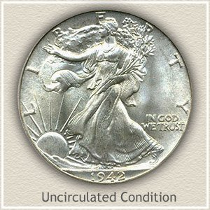 1942 Half Dollar Uncirculated Condition