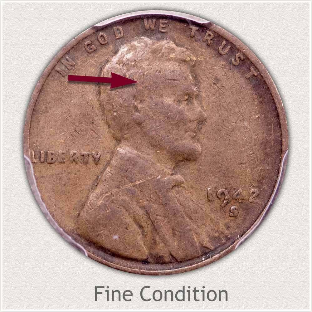 Fine Grade 1942 Lincoln Penny