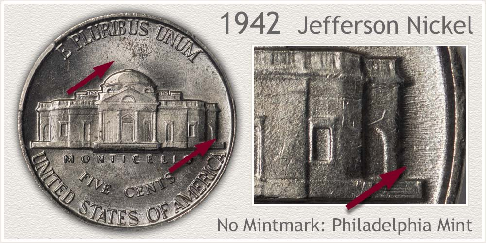 1942 Jefferson Nickel