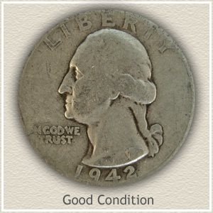 1942 Quarter Good Condition