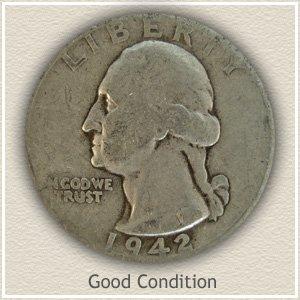 1942 Quarter Good Condition