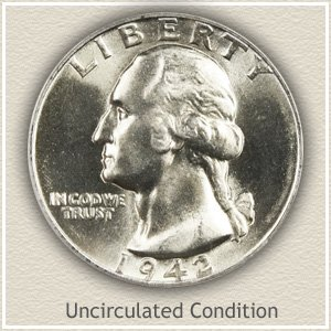 1942 Quarter Uncirculated Condition