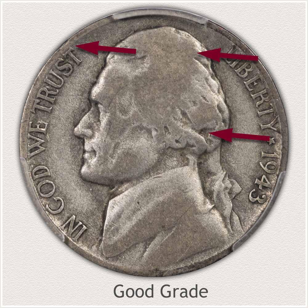 1943 Jefferson Nickel Good Grade