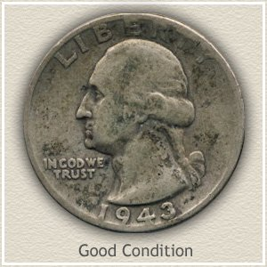 1943 Quarter Good Condition