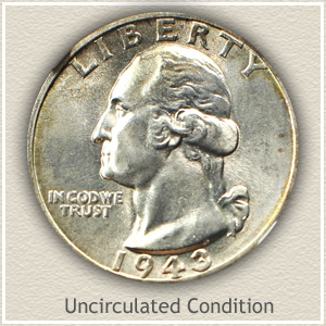 1943 Quarter Uncirculated Condition