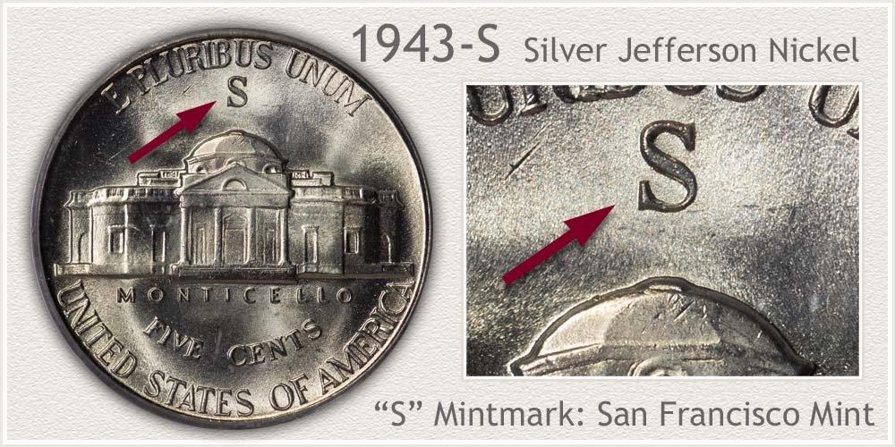 1943-S Jefferson Nickel