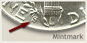 1944 Dime S Mintmark Location