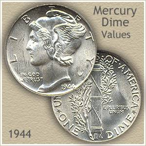 1944 Dime Value | Discover Your Mercury Head Dime Worth