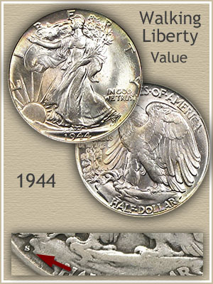 Uncirculated 1944 Half Dollar Value