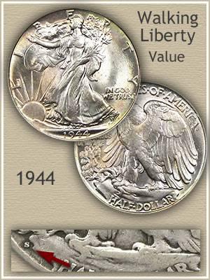 1944 Half Dollar Value