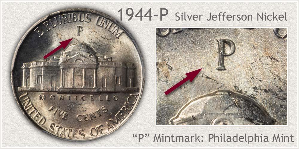 1944-P Silver Jefferson Nickel